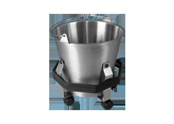 Cubeta de 12 lts de acero inoxidable y porta cubeta for Cubetas de acero inoxidable